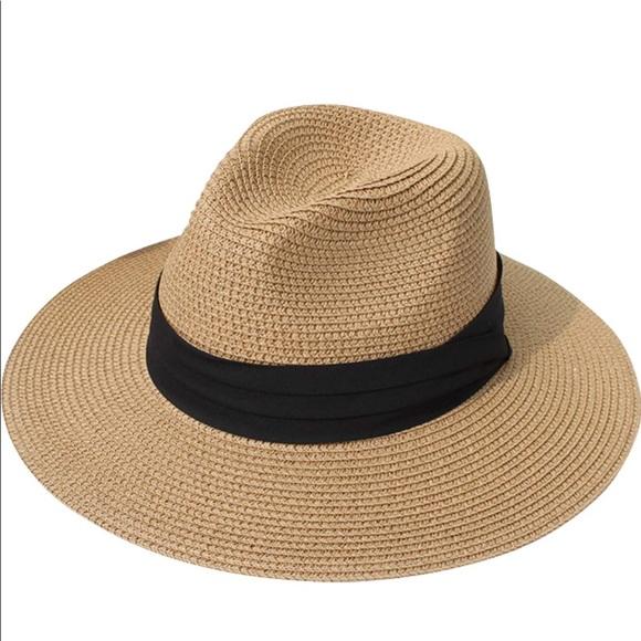 0844b93f0eff7c Accessories | Womens Straw Roll Up Hat Fedora Beach Sun Hat | Poshmark